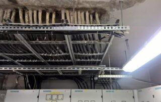 uszczelnianie rozdzielni elektrycznej w garażu podziemnym
